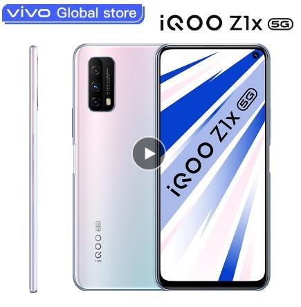 купить со скидкйо на али Оригинальный vivo iQOO Z1x смартфон с двойным режимом 5G Snapdragon 76 5G аккумулятор 5000 мАч 33 Вт зарядка 120 Гц Мобильный телефон