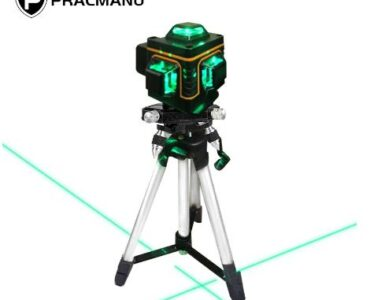 купить на алиэкспресс Лазерный уровень PRACMANU, самонивелирующийся 16 линий 4D, горизонтальный и вертикальный крест, сверхмощный нивелир с зелеными линиями, 360