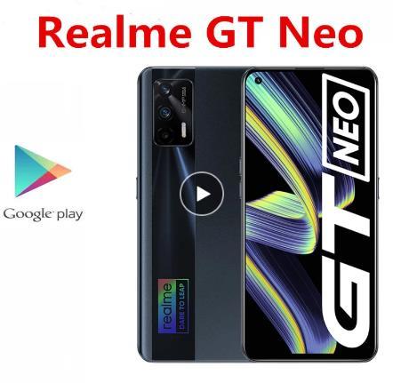 """Оригинальный Realme GT Neo 5G мобильный телефон 50 Вт Зарядное устройство 12 Гб Оперативная память 256 ГБ Встроенная память отпечатков пальцев 64.0MP 6,43 """"120 Гц Dimensity 1200 Android 11,0"""