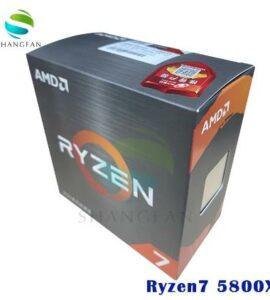 Новый процессор AMD Ryzen 7 5800X R7 5800X 3,8 ГГц Восьмиядерный 16-поточный 105 Вт ЦПУ L3 = 32M 100-000000063 разъем AM4 без вентилятора
